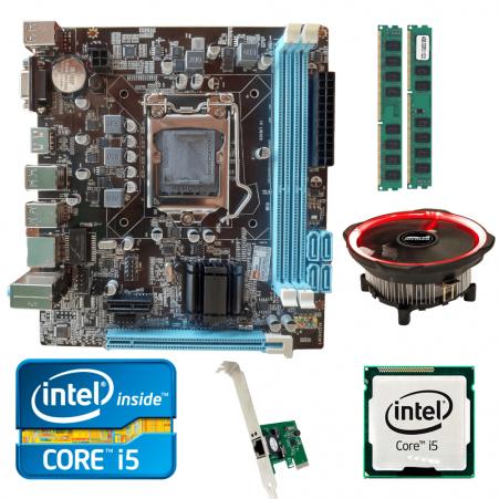 Kit Upgrade Gamer Processador Intel I5 + Placa Mãe H61+ Memória Ram 8GB + Cooler Processador Led + Brinde