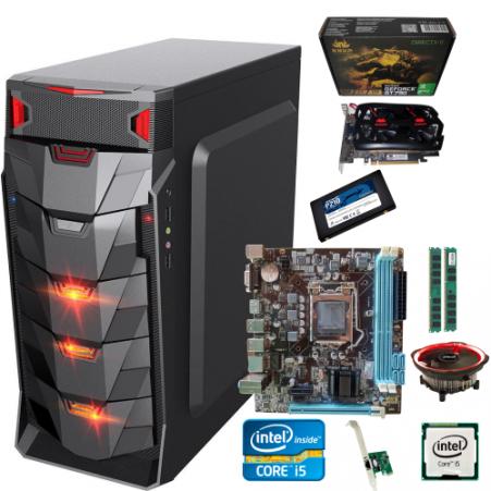 Pc Gamer I5 + Gt730 GDDR5 2gb + Ram 8gb +  Ssd 256gb + Fonte Gamer 450w + Gabinete Led Barato