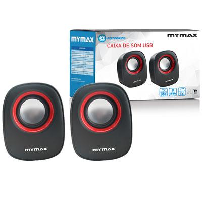 Caixa De Som 2.0 Usb 6w Rms Sp Sp205 Mymax Para Pc Notebook
