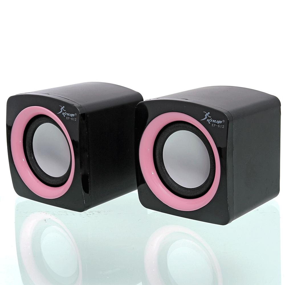 Caixa De Som Para Pc Note 6w Rms Audio P2 Alimentação Usb2.0