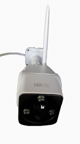 Camera Bullet Externa Visão Noturna 180º Wifi Full Hd Luatek