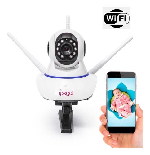 Camera Ip Robo Wifi 3 Antenas Visão Noturna Voz 360º