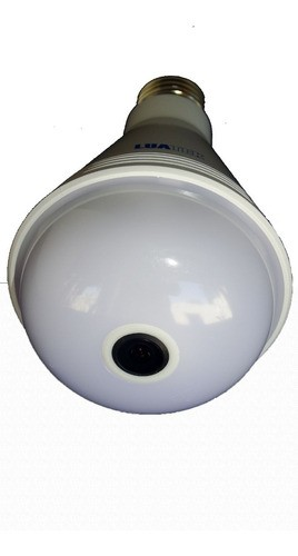 Câmera Lâmpada Espia Wifi 3x1 Musica Rgb Ip Visão 360° Led