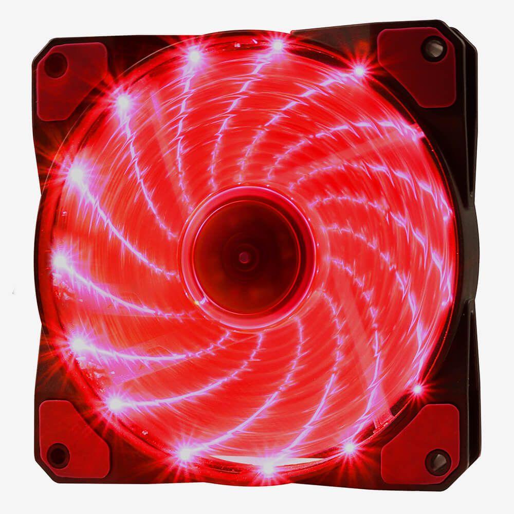 Cooler Fan Gamer 3 E 4 Pinos 15 Leds 12 Cm F-20 Oex