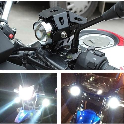 Farol Auxiliar Moto Luz Branca 6000k Alcance 300m Angel Eyes