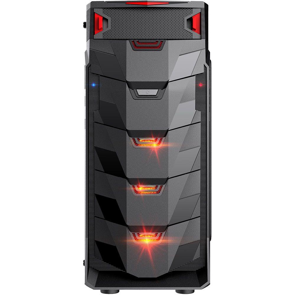 Gabinete Gamer Taurus Preto Led Vermelho Usb 3.0 Mymax