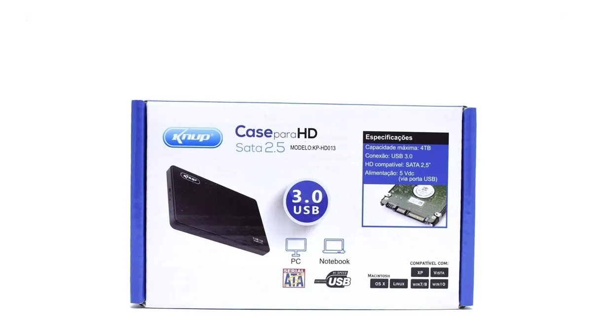 Gaveta Case Hd Externo Sata 2.5 Usb 3.0 Hd Slim Pc Note Ps4