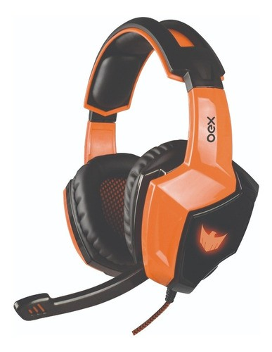 Headset Gamer Eagle 7.1 Led Pc Ps4 Preto Volume Hs401 Oex