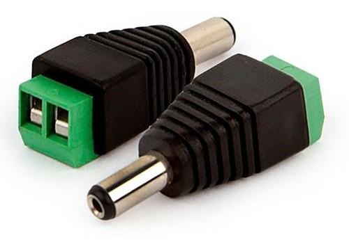 Kit 10 Peças Conector P4 Macho Com Borne Cftv