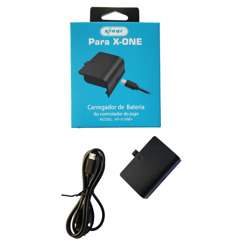 Kit Bateria 1200 Mah E Cabo Controle Xbox One Recarregável