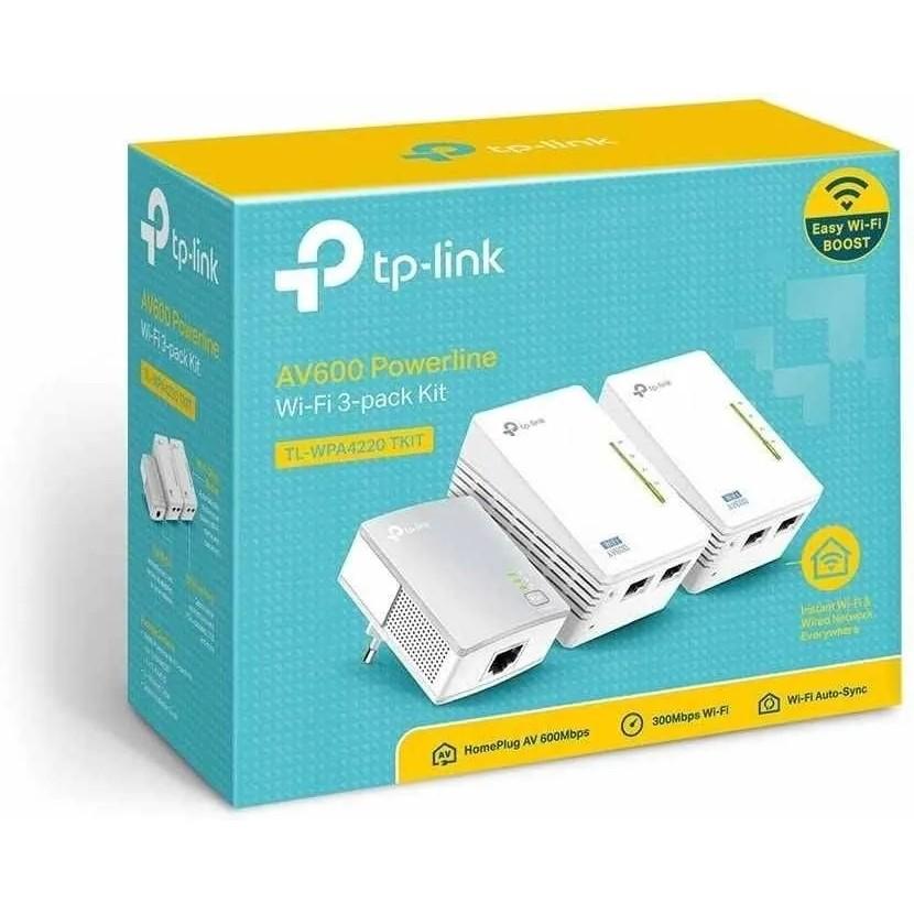 Kit Extensor Triplo Powerline Tp-link Tl-wpa4220t Av600