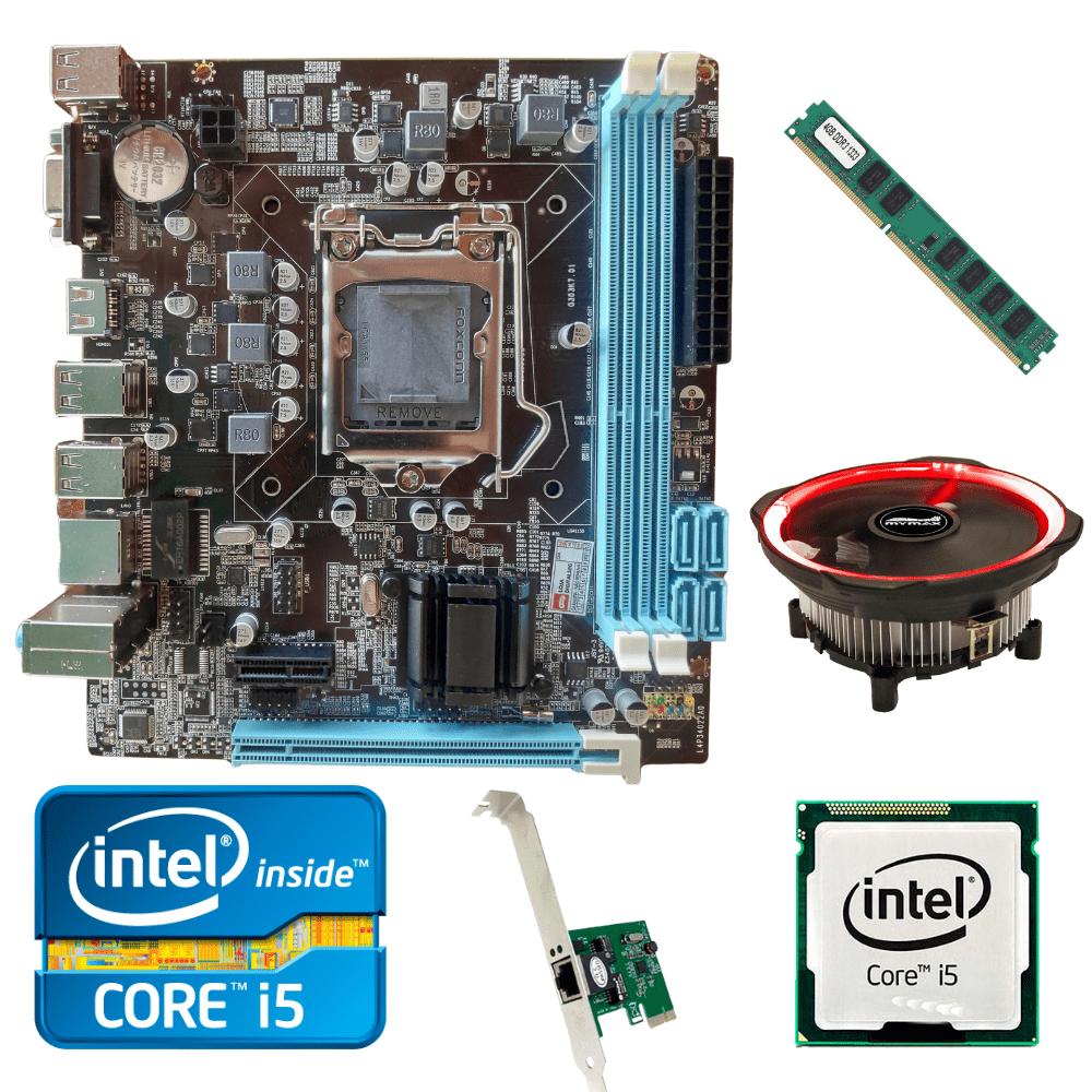 Kit Upgrade Gamer Processador Intel I5 + Placa Mãe H61+ Memória Ram 4GB + Cooler Processador Led + Brinde