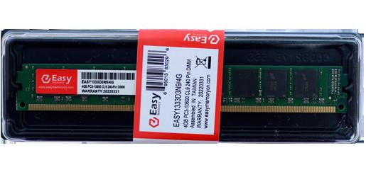 MEMORIA EASY MEMORY 4GB (1X4) DDR3 1333MHZ, EASY1333D3N9/4G