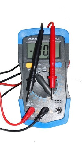 Multímetro Digital Portátil Lcd De 3 ½ Com Iluminação E Bip