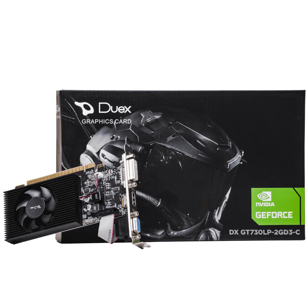 PLACA DE VIDEO GEFORCE DUEX  GT 730 2GB DDR3 128BIT , DVI HDMI VGA