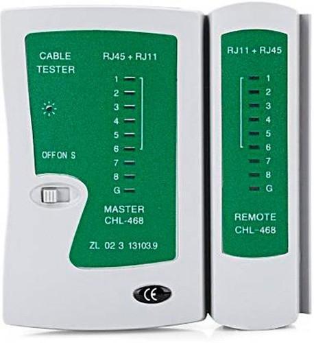 Testador De Cabo Rj45 E Rj-15 Lan E Telefone + Bolsa Brinde