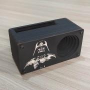 Caixa Amplificadora para celular - modelo black edition