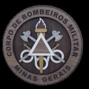 Escudo de madeira dos Bombeiros Militar de Minas Gerais - 38cm