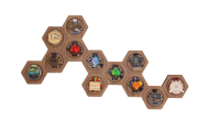 Porta Medalhas Sextavado - kit com 12