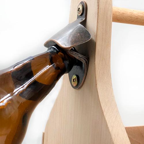 Engradado artesanal em madeira maciça - 6 garrafas