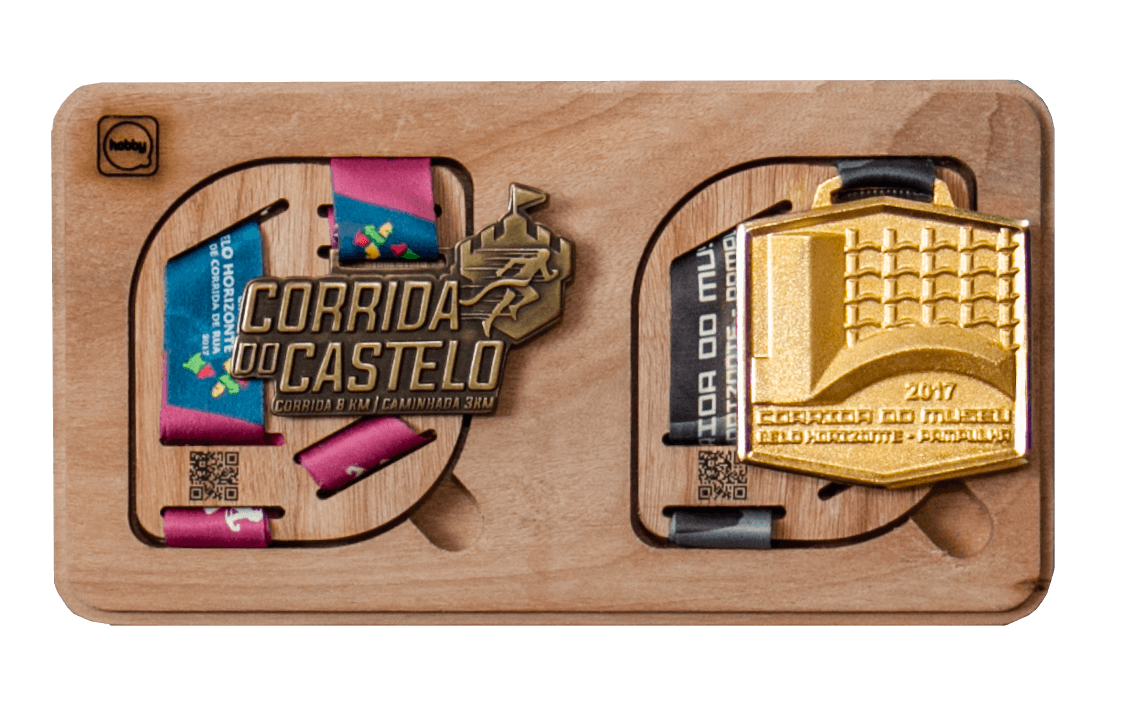 Porta Medalhas Hobby Medals - duplo