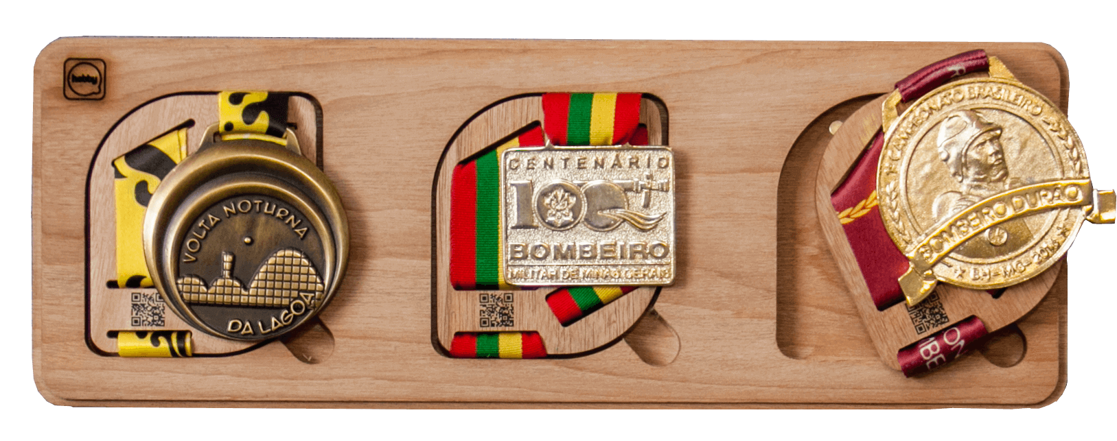Porta Medalhas Hobby Medals - triplo