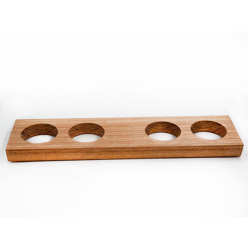 Régua de degustação em madeira maciça