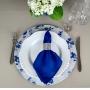 Capa Sousplat Estampa Floral Azul
