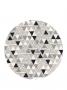 Kit triangulo preto e cinza- 6 lugares OUTLET