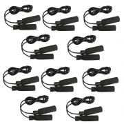 Kit 10 Cordas de Pular em PVC com Rolamento Alta Resistência