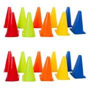 Kit Funcional Cones de Agilidade 23cm 20 Unidades
