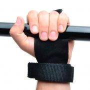 Luva Hand Grip Para Pull Up Couro - Par
