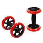 Roda Abdominal Dupla Core Wheel Par