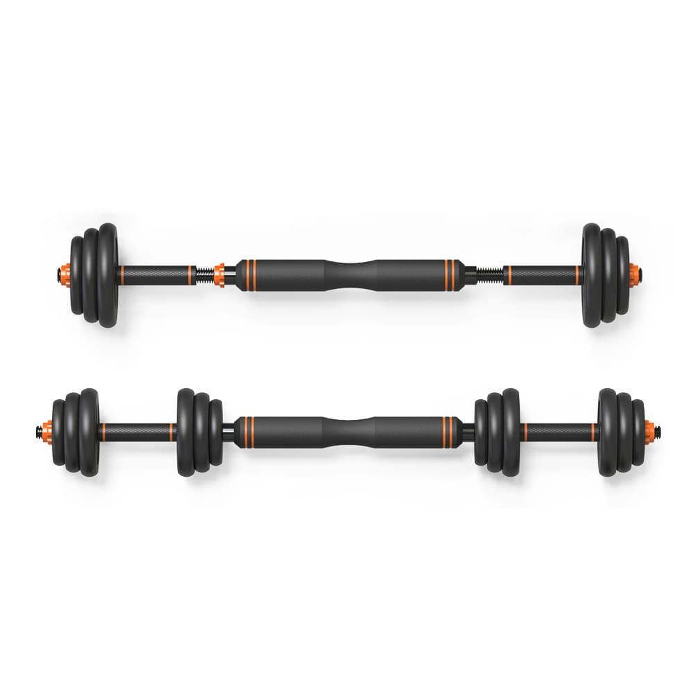 Barra Anilha Halter Kettlebell Kit Musculação Completo - 25kg