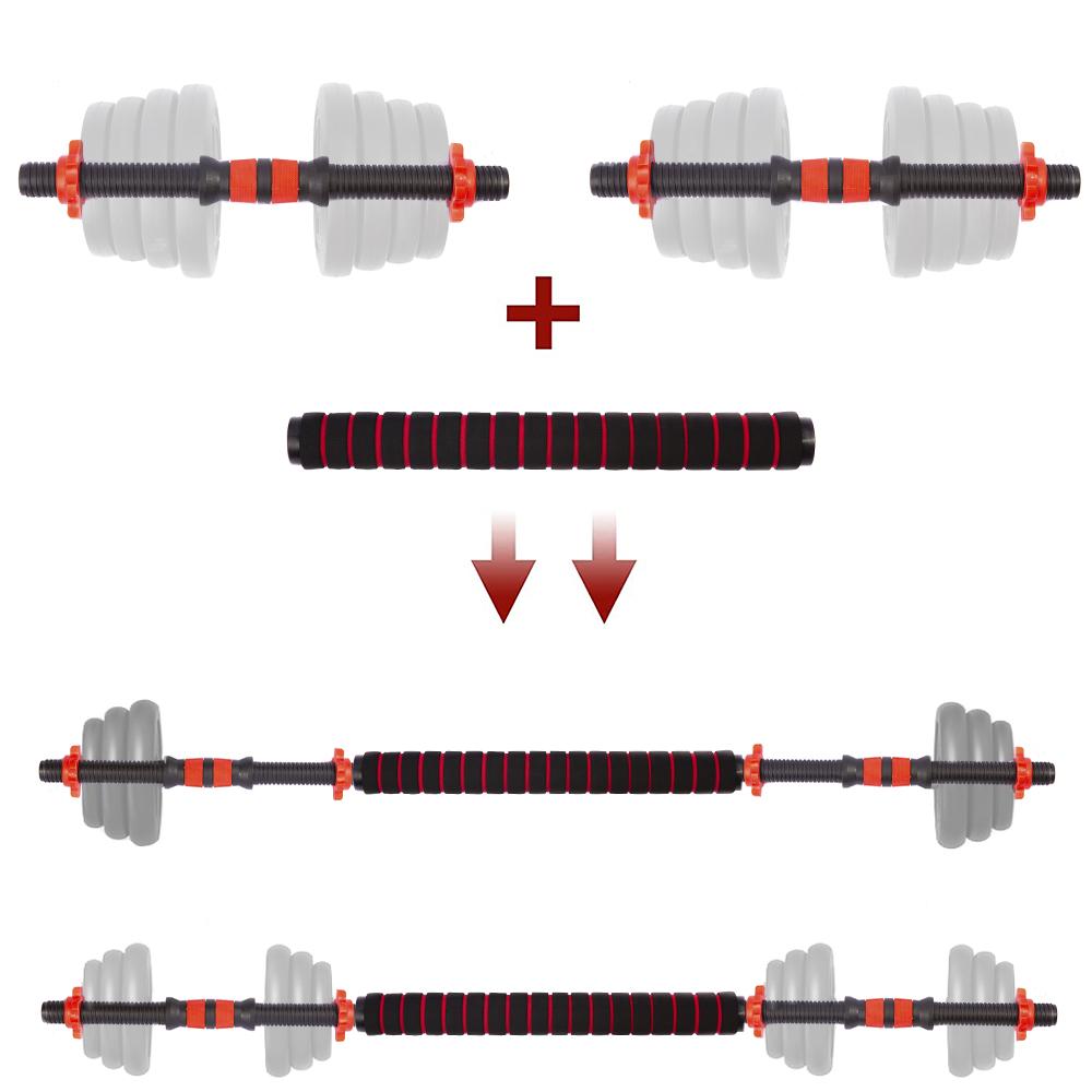 Barra Halter Supino Para Musculação Com Rosca Rápida Kit 2 em 1