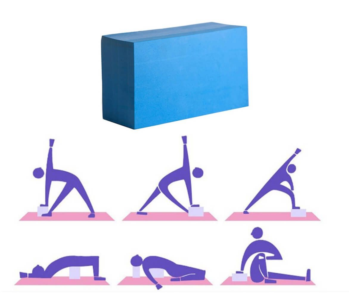 Bloco de Yoga EVA Para Pilates