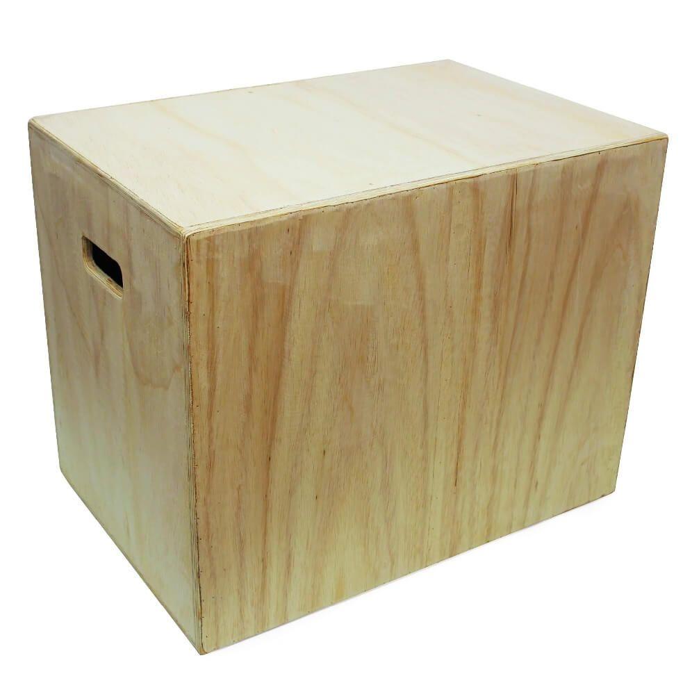 Caixa de Salto Jump Box 3 em 1 Madeira Naval 50X60X75 cm