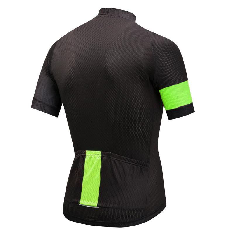 Camisa Ciclismo com Ziper e Bolso Manga Curta