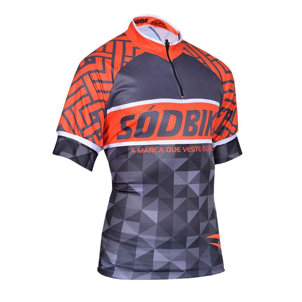 Camisa Ciclismo Laranja Bike