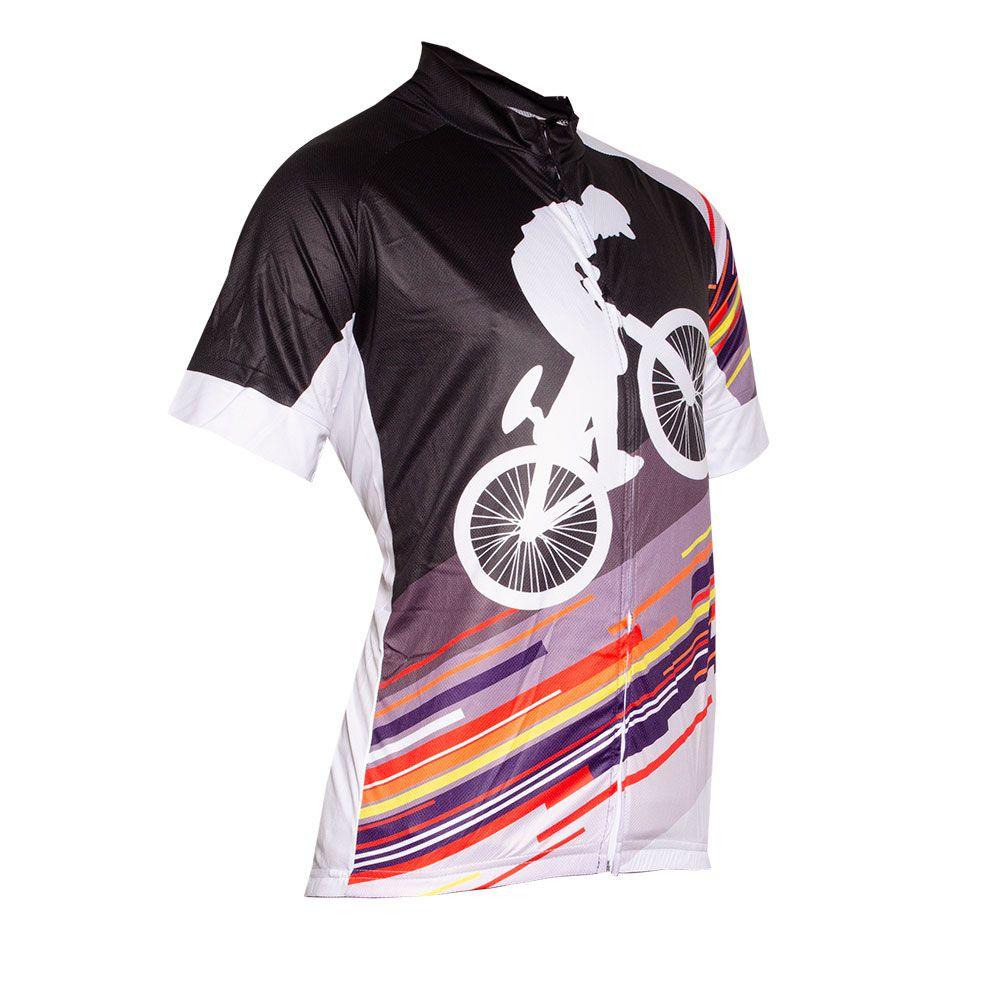 Camisa Ciclismo Manga Curta Bike Ziper Bolso