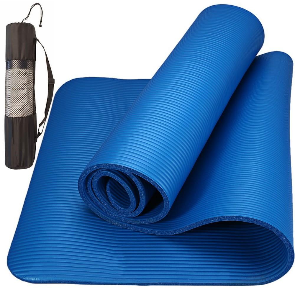 Tapete Yoga Pilates Exercícios com Bolsa 173x61x0.8cm