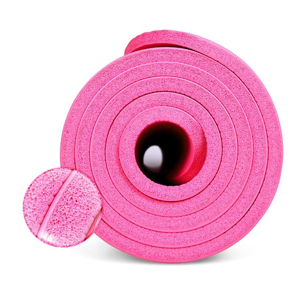 Tapete Yoga Pilates Exercícios com Bolsa 183x61x1,0cm