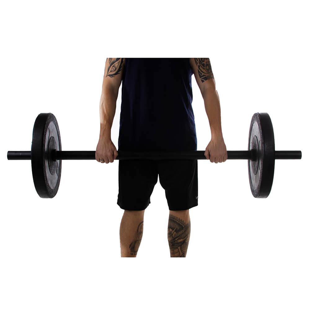 Fat Bar Barra Olímpica 150cm Preto Cross Training