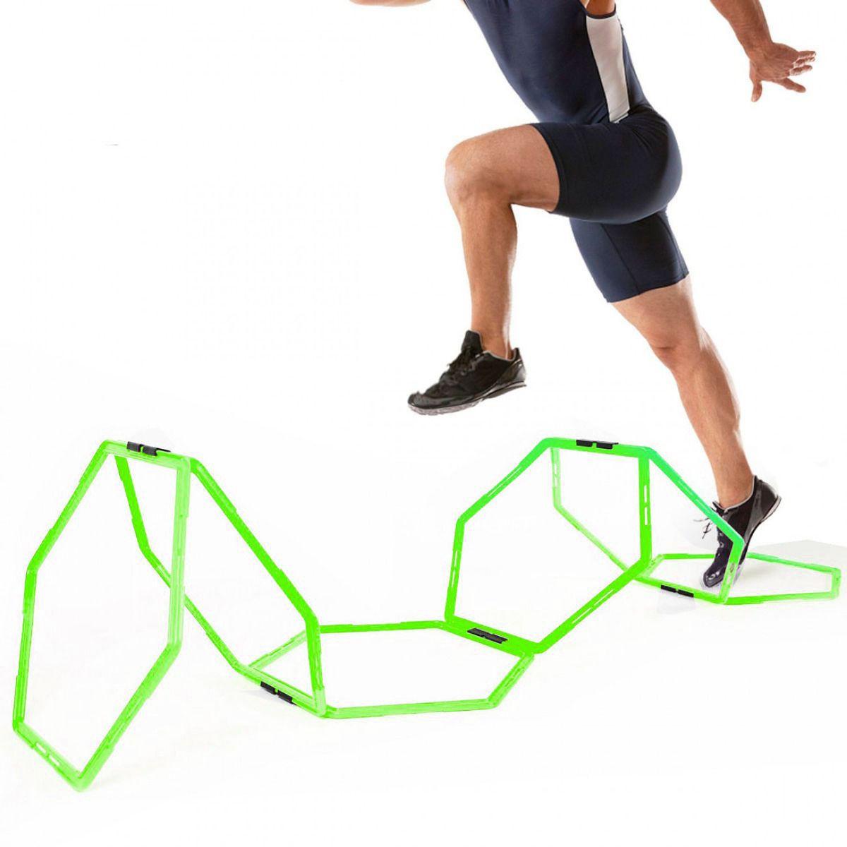 Grade de Agilidade Argolas Hexagonal Treinamento Funcional