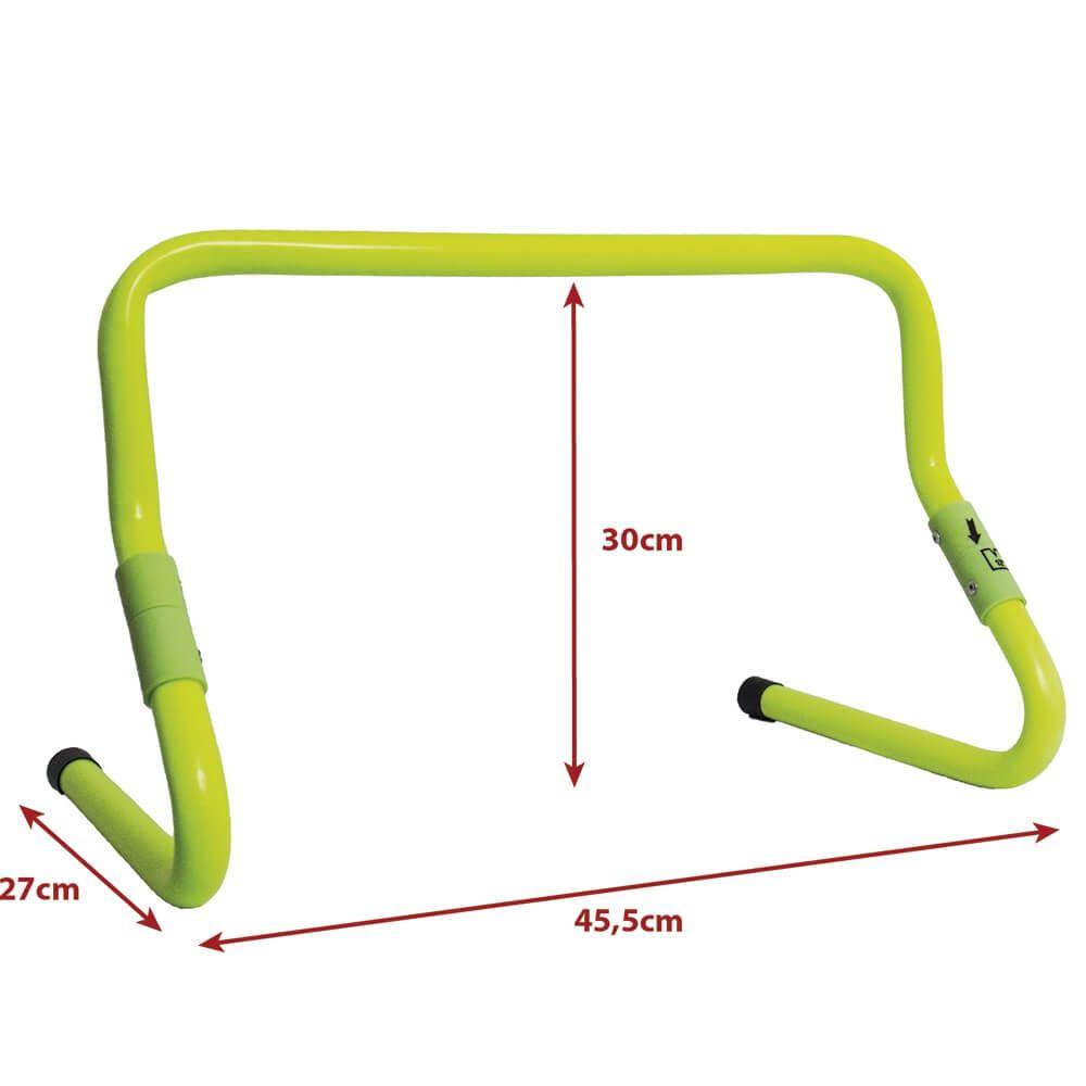 Kit Barreiras Funcional Agilidade Salto Ajustável 5 Unidades
