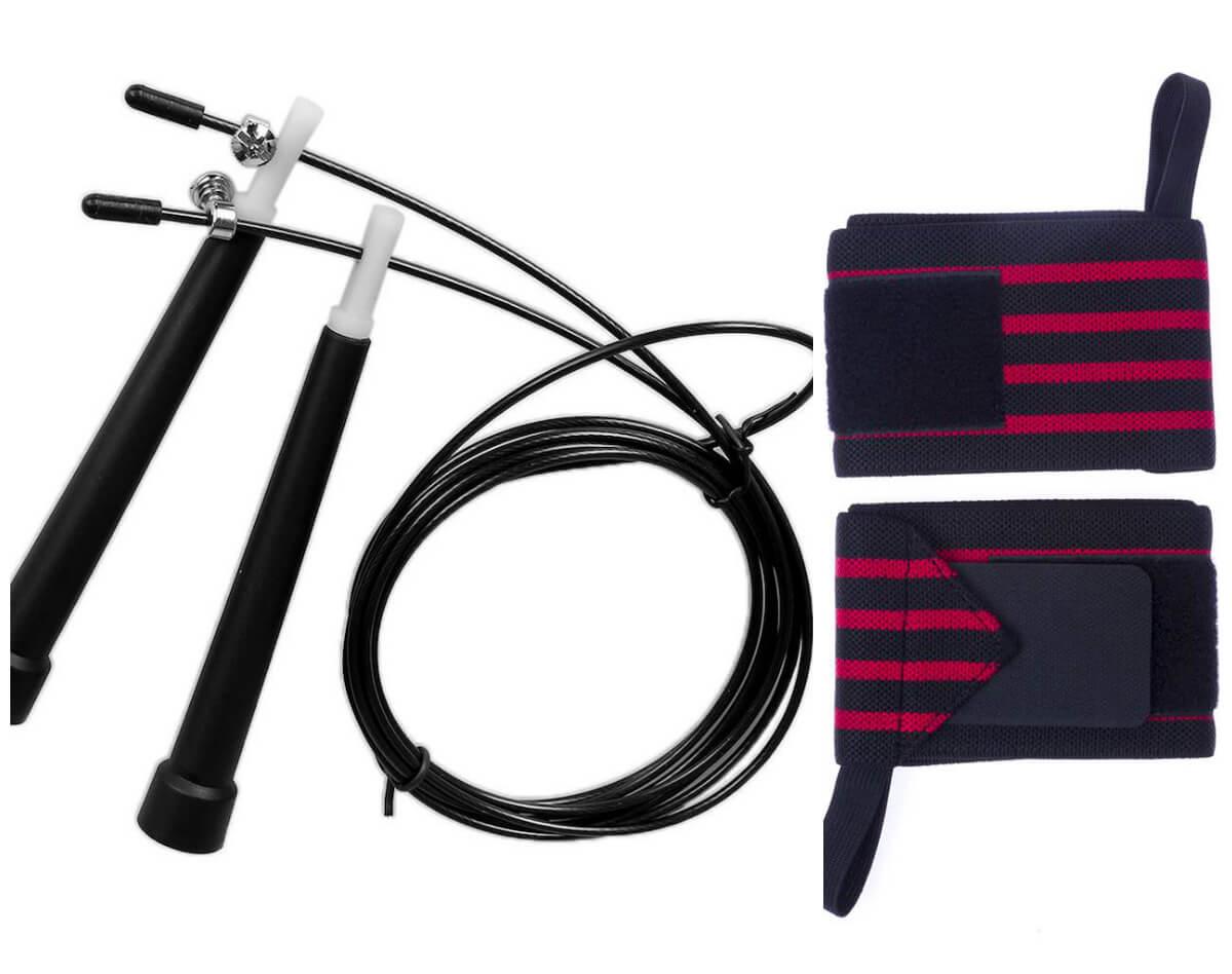 Kit Corda de Pular Com Munhequeira Profissional