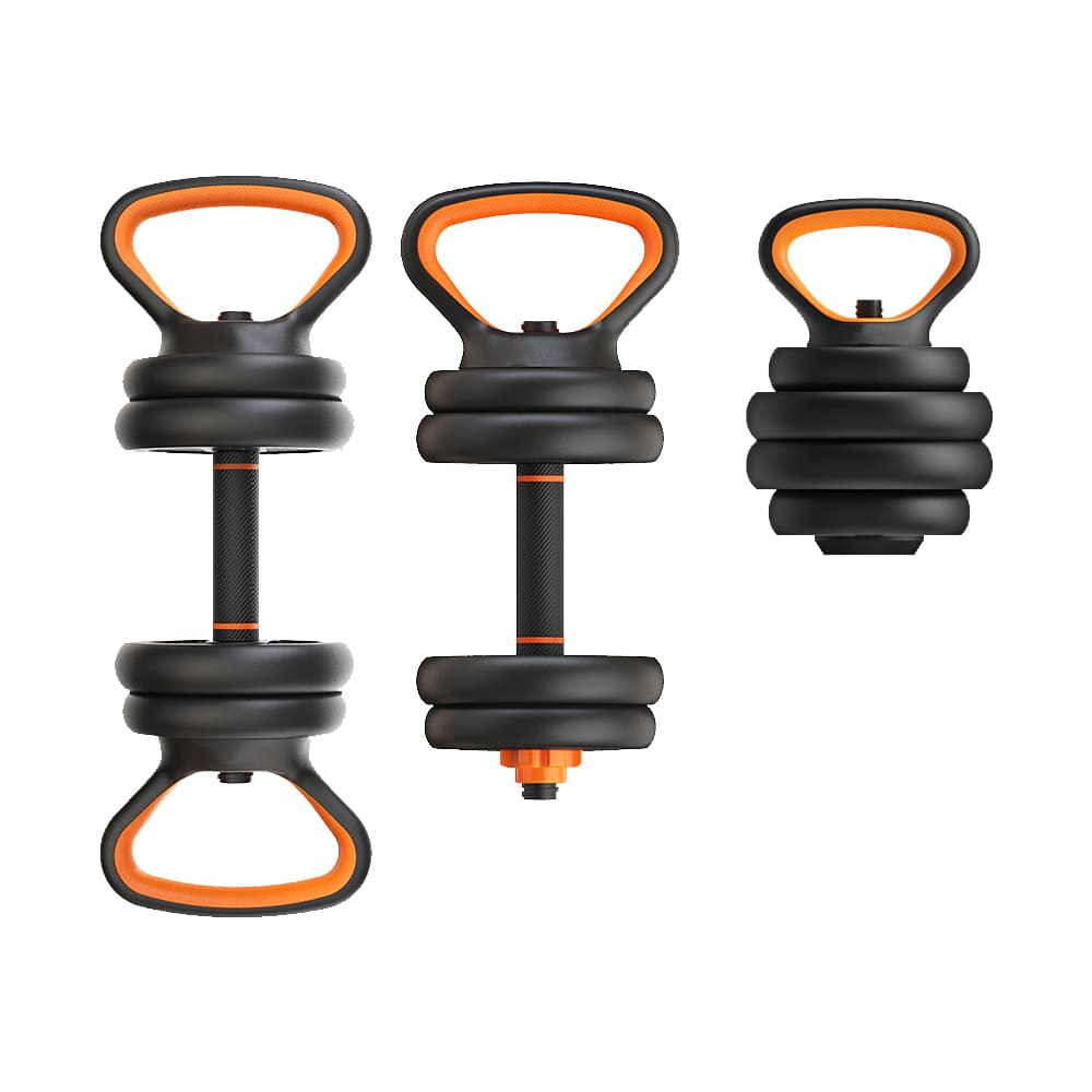 Kit Musculação Completo Barra Anilha Halter Dumbbell Kettlebell - 40kg