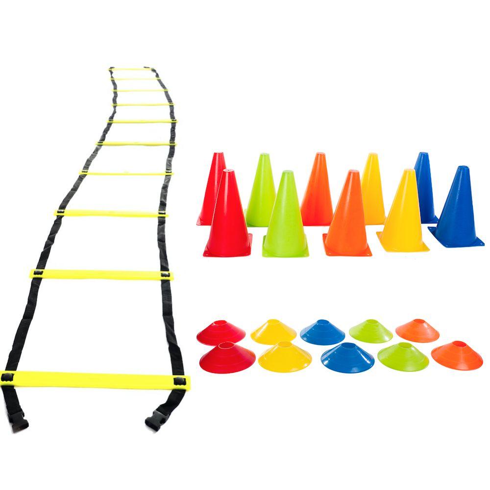 Kit Treinamento Funcional Escada De Agilidade e Cones