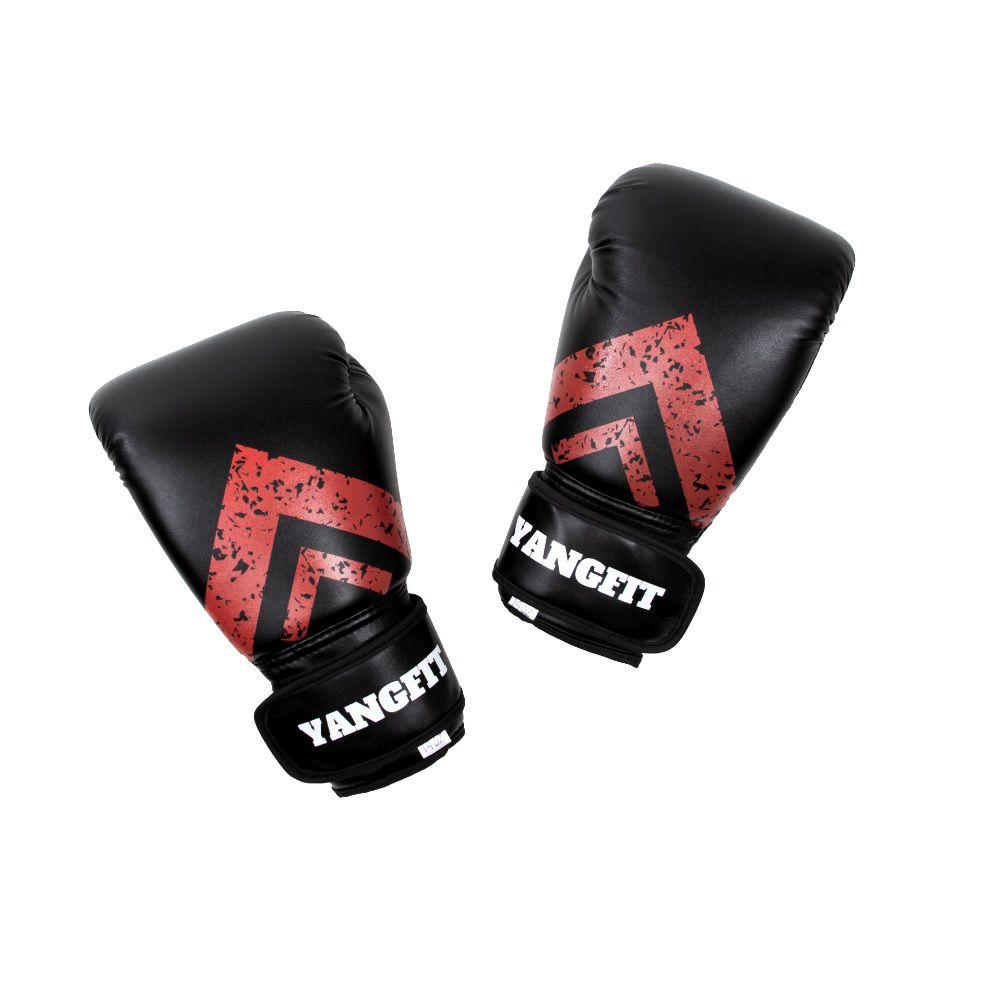 Luva de Boxe Profissional Couro Sintético Par