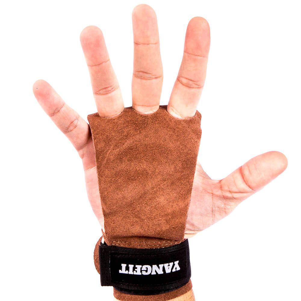 Luva Hand Grip Couro 3 Dedos para Cross Training